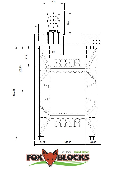 Fox Blocks ICF Sill Schematic