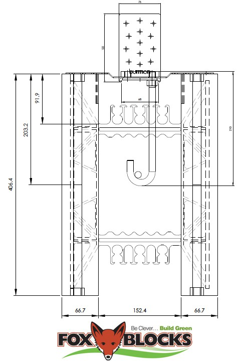 Fox Blocks ICF Concrete Schematic