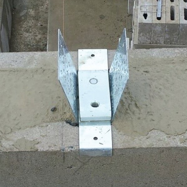 Hurricane Anchor for CMU Concrete Connection to Truss/Rafter