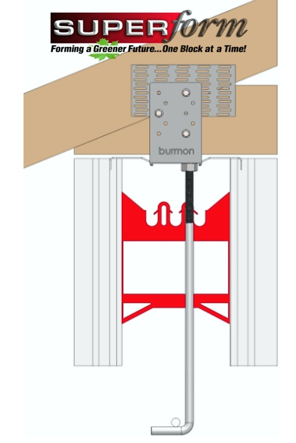 Roof Truss/Rafter Anchor Connection to Concrete