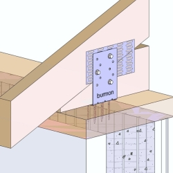 Hurricane Anchor for Single Sill Plate Connection to Truss/Rafter